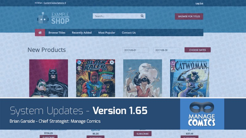 2017 Manage Comics V1.65 System Update