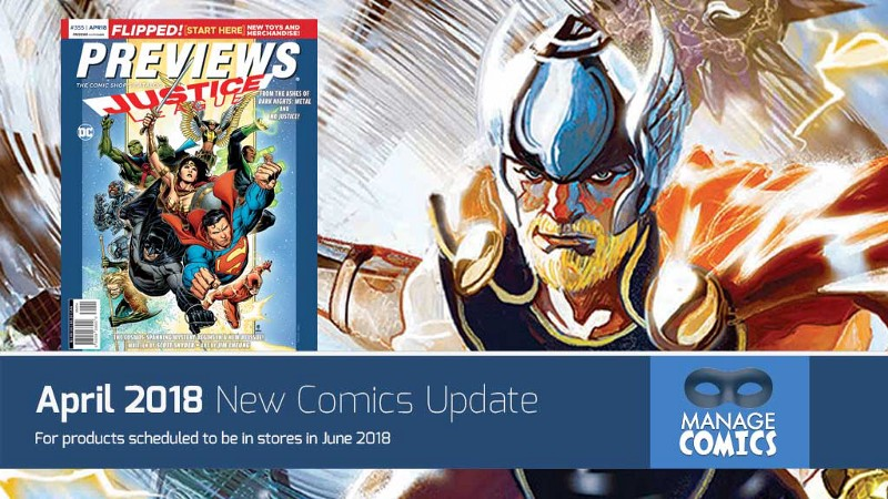 New Comics added to Manage Comics for April 2018