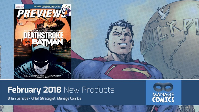 New Comics added to Manage Comics for February 2018