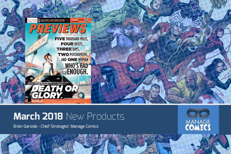 New Comics added to Manage Comics for March 2018