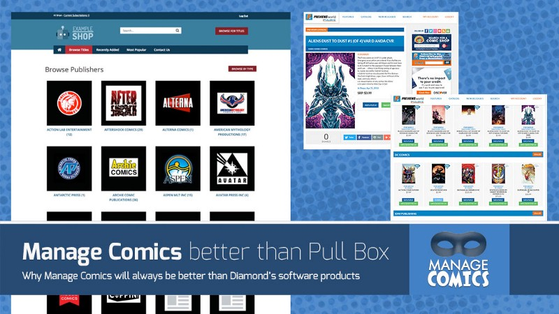 Why Manage Comics will ALWAYS be better than Diamond's Pull Box