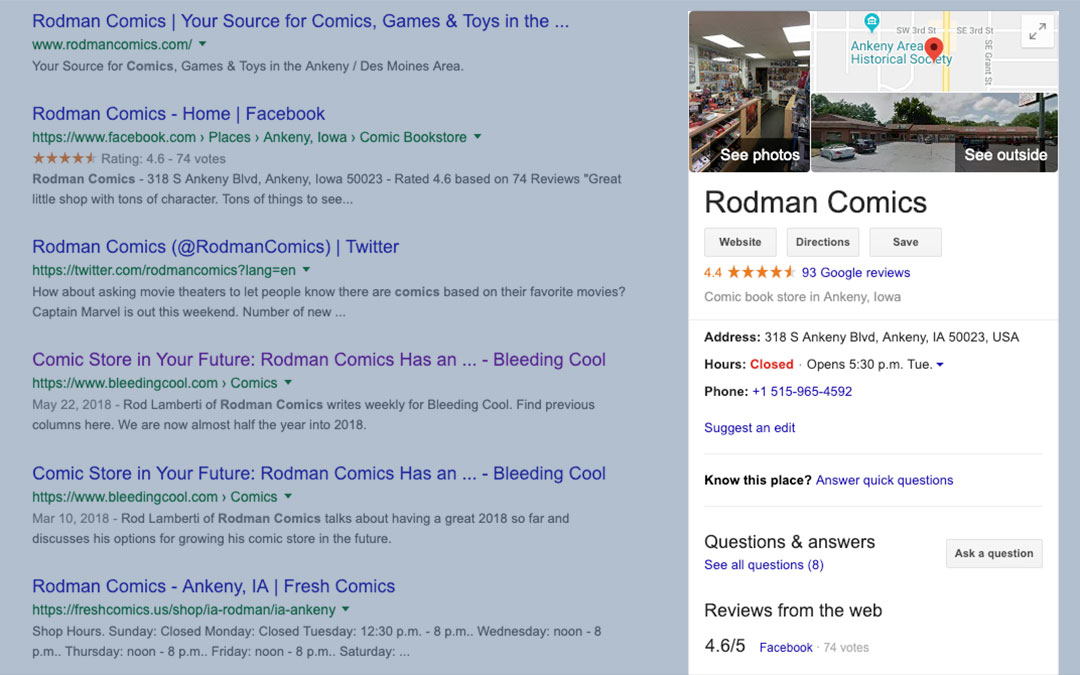 Help Your Customers Find Your Comic Store on Google