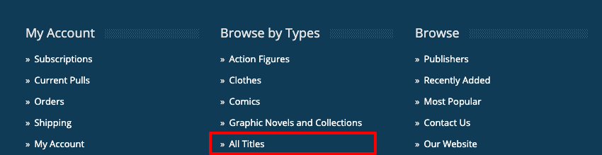 Footer - All Titles