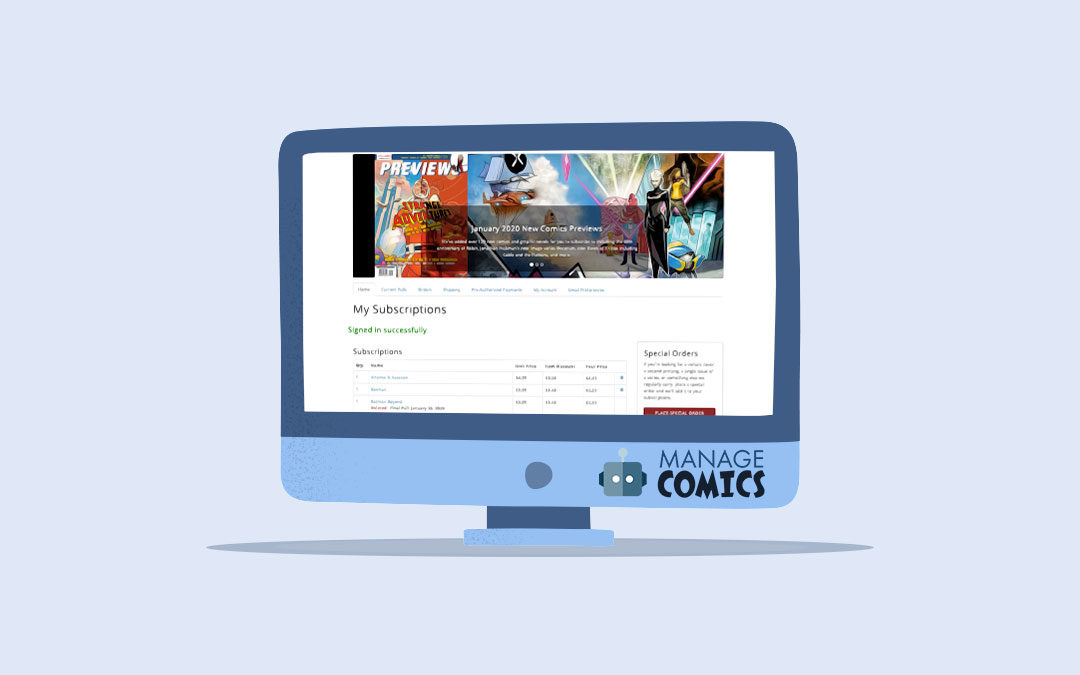 Manage Comics suspends subscription software fees effective immediately