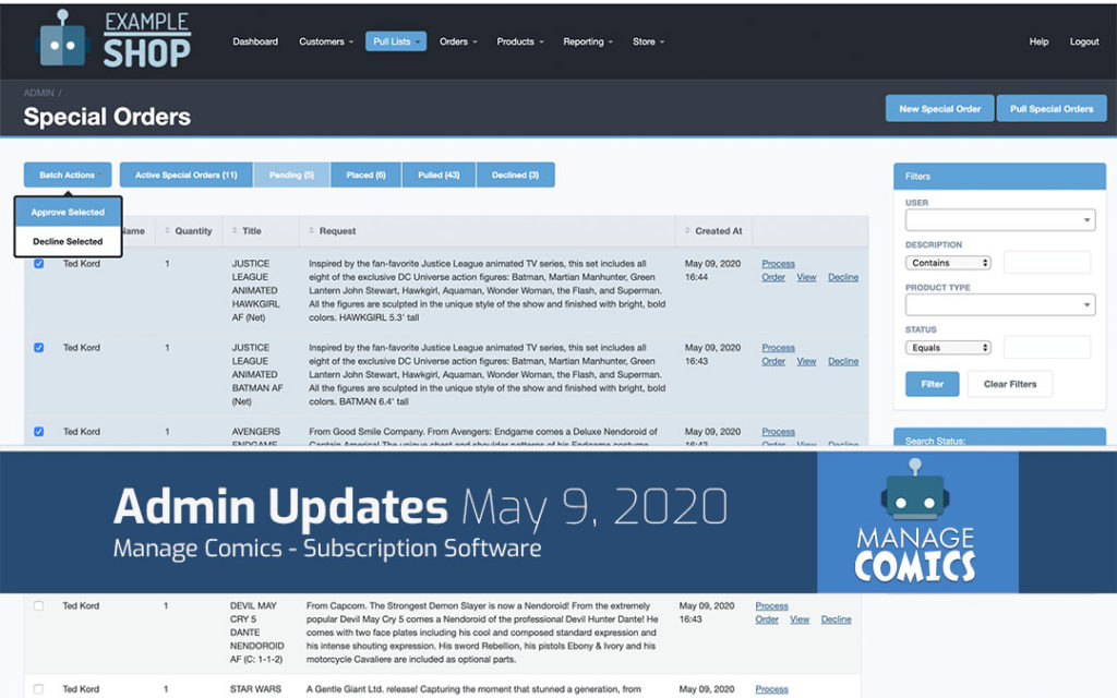 May 9, 2020 System Updates