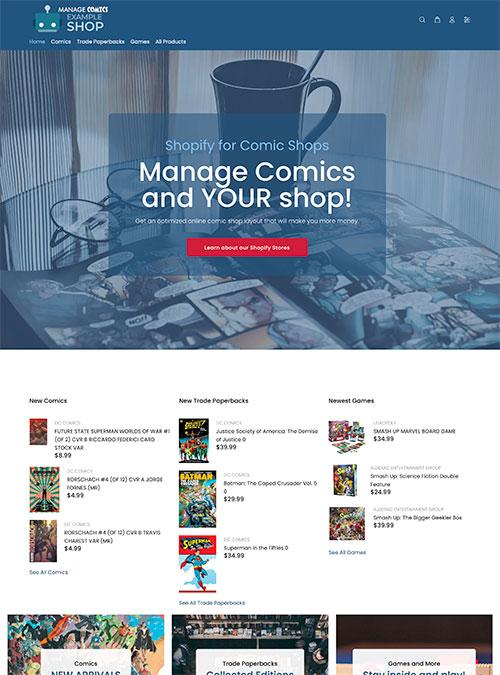 Manage Comics - Example Shop